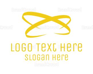 Fortune - Golden  Atom logo design