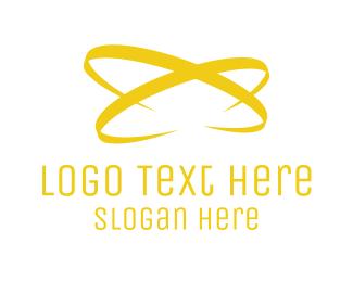 Atom - Golden  Atom logo design