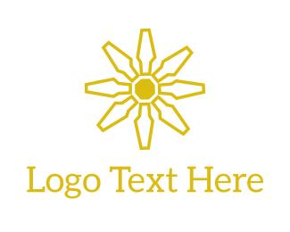 Mechanic - Tech Flower logo design