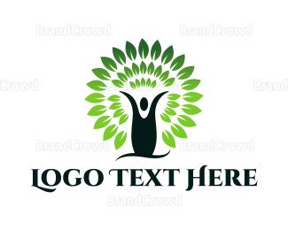 Human Tree - Human & Ecology logo design