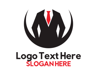 Agent - Geometric Coat & Tie logo design