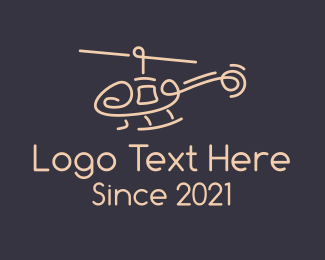 Flight - Minimalist Chopper logo design