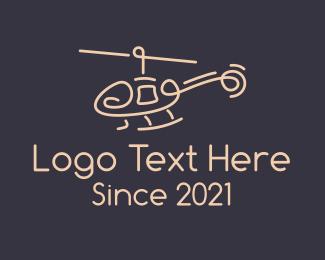 Pilot - Minimalist Helicopter logo design