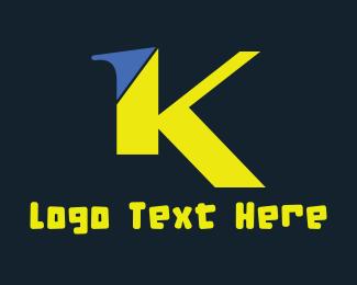 Letter K - Green Letter K logo design