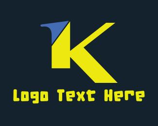 Name - Green Letter K logo design