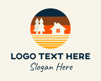 Provincial - Circle Cabin Home Rental logo design