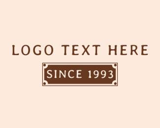 Classic - Classic Banner Wordmark logo design
