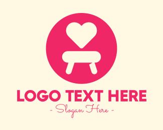 Seat - Pink Love Seat logo design
