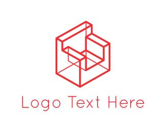 Interior Design - Lines & Sofa logo design