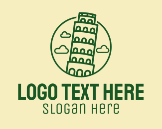 Tour Guide - Leaning Tower Tour logo design