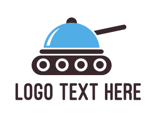 Battle - Food Tray Tank logo design