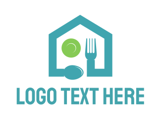 Food - Food Restaurant House logo design