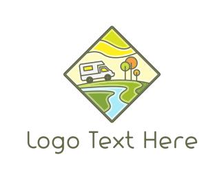 Campervan - Recreational Vehicle logo design