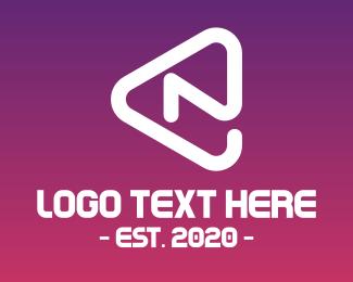 Modern Arrow Letter N Logo