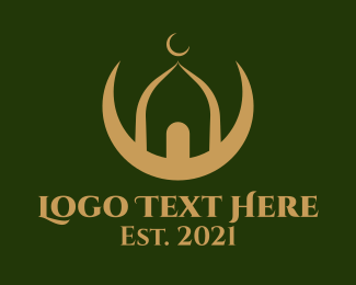 Religious - Gold Mosque Religious logo design