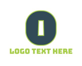 Number 0 - Green Letter O logo design