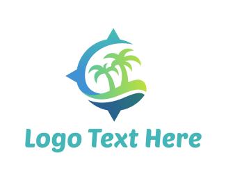 Holiday - Island Compass logo design