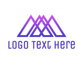 Ma - Geometric MA logo design