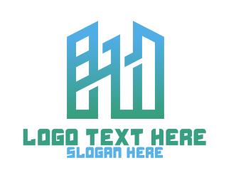 Building - Modern Geometric Buildings logo design