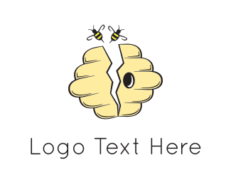 Sting - Yellow Beehive logo design