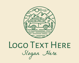 Road Trip - Off Road Vehicle Trip logo design