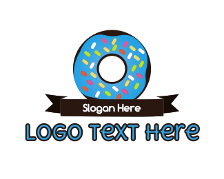 Donut - Donuts & Ribbon logo design