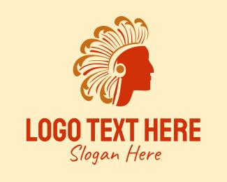 Native American - Tribe Chief logo design
