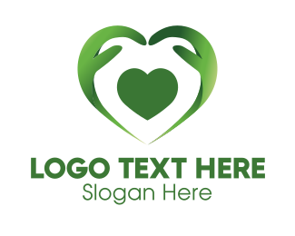 Caregiver - Green Heart Caregiver logo design