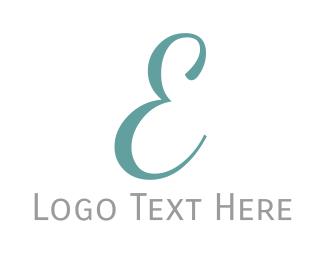 Edinburgh - Elegant Blue Letter E logo design