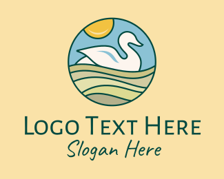 Wildlife Conservation - Swan Duck Park Nature logo design