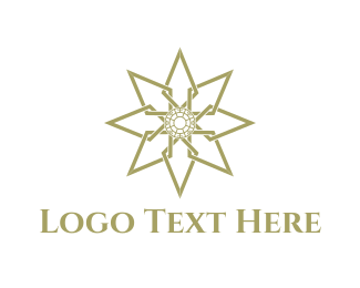 Libya - Golden Star logo design
