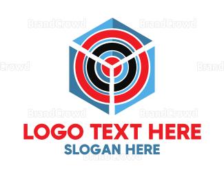 Target - Target Cube logo design