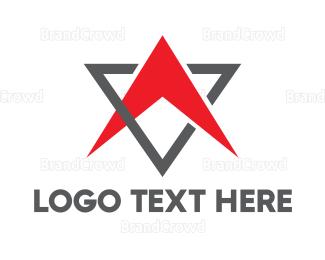 Outer Space - Triangle Boomerang  logo design