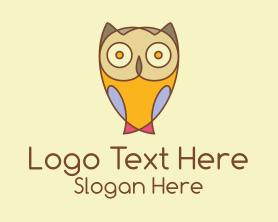 Intelligent - Colorful Owl Cartoon logo design