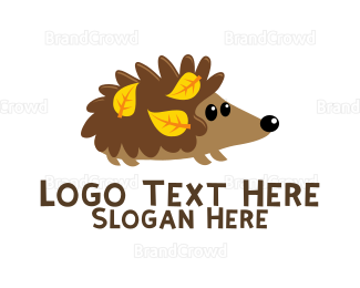Autumn - Cute Hedgehog logo design