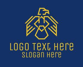 Authority - Yellow Eagle Crest logo design