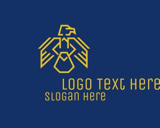 Minimalist - Yellow Eagle Crest logo design