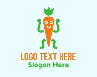 Joyful - Happy Carrot logo design