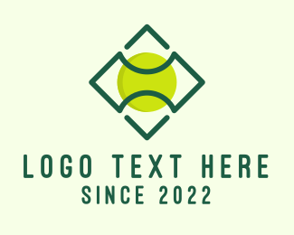 Tennis Coach - Green Tennis Ball logo design