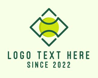 Tennis - Green Tennis Ball logo design