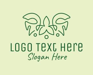 Tiara - Abstract Nature Tiara  logo design