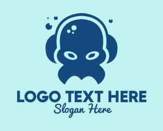Listen - Blue Audio Monster  logo design