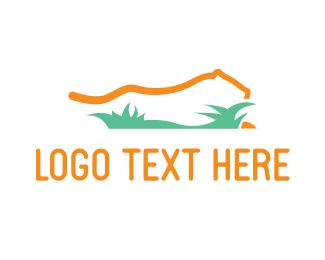 Indonesia - Yellow Lion Grass logo design