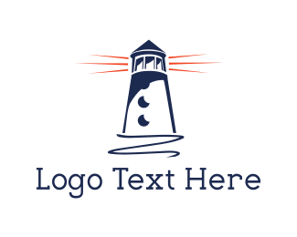 Blue Lighthouse  Logo