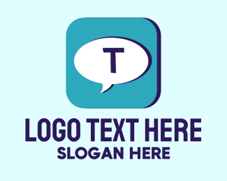App - Text App logo design