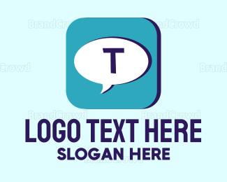 Text - Text App logo design