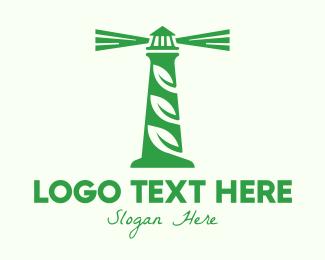 Lighthouse - Leaf Lighthouse logo design