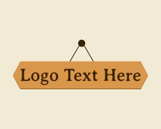 Diy - Hanging Wood Wordmark logo design