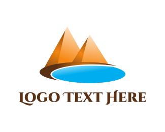 Sand - Oasis & Pyramids logo design
