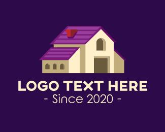 House - Isometric Real Estate Mansion logo design